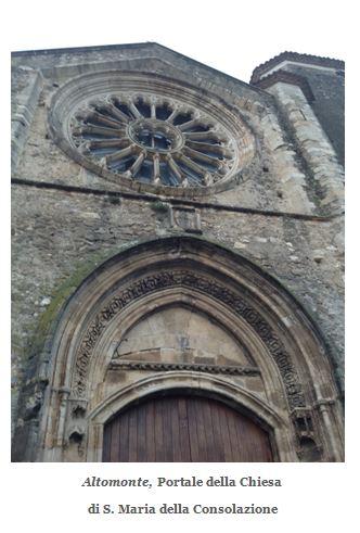 Altomonte portale della Chiesa